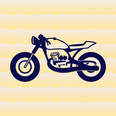 Motorcycle, bike icon. Flat Vector illustration
