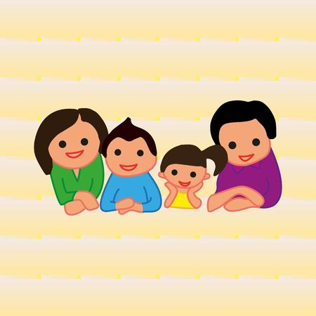 baby and mother: Family icon, vector illustration. Flat design style Illustration