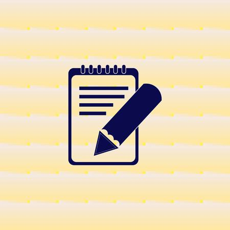 writer: Notebook icon, vector illustration.