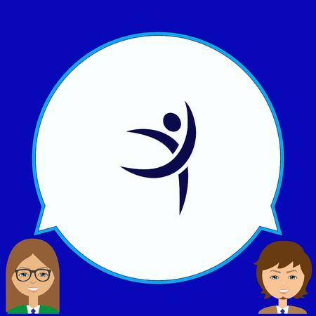 pastime: Sport icon , vector illustration. Flat design style