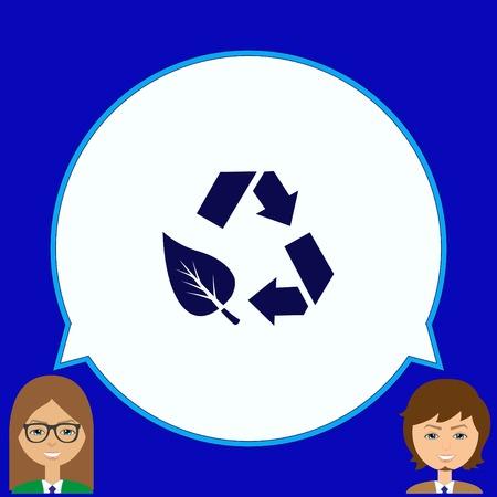 Gooi afval, recycleer, vervuiling, recycling en eco icoon. Concept ecologie probleem. Vlakke Vector illustratie. Vector Illustratie