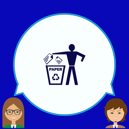 to warn: Throw away the trash icon, recycle icon Illustration
