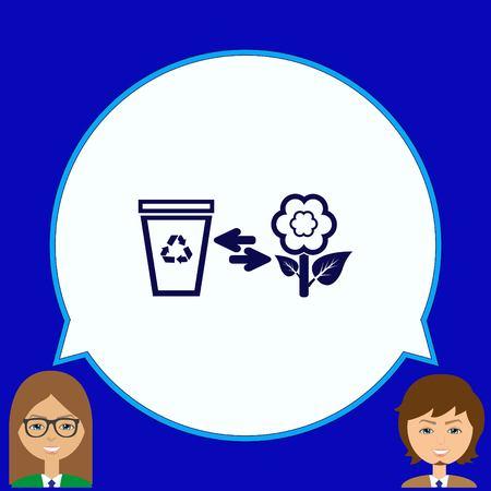 Throw away the trash icon, recycle icon Stok Fotoğraf - 80425082