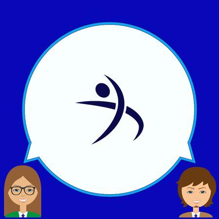 running: Sport icon , vector illustration. Flat design style
