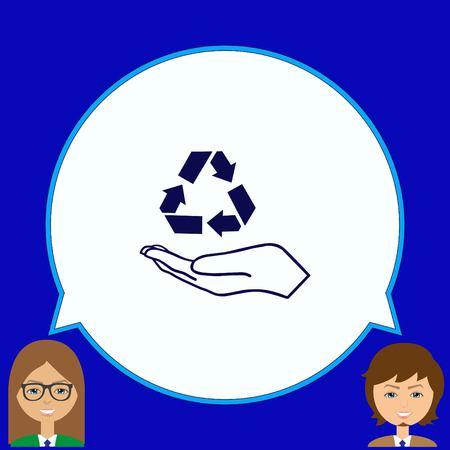 リサイクル アイコン アイコンをゴミ箱に捨てる  イラスト・ベクター素材