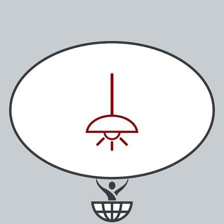furniture: Home appliances icon. Table lamp, floor lamp, chandelier icon. Vector illustration. Illustration