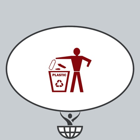 Throw away the trash icon, recycle icon Stock Vector - 80640364