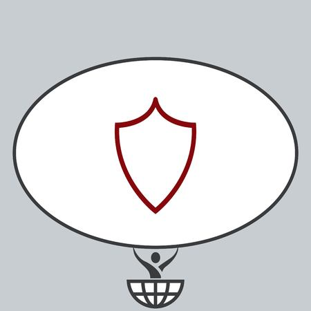 simple frame: Shield icon.