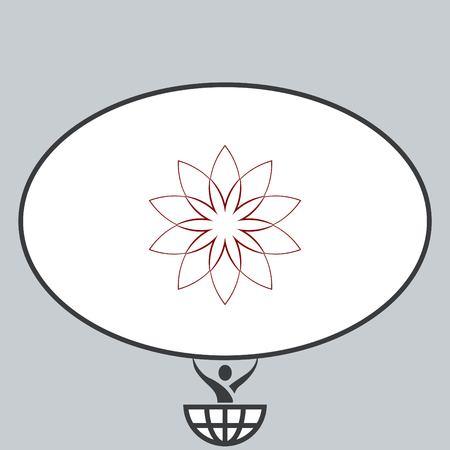petal: Vector flower Icon Illustration