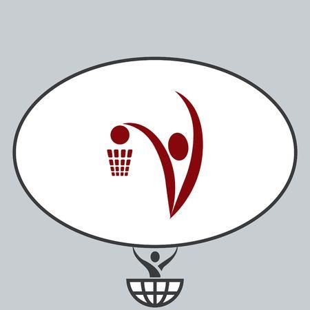 running: Sport icon , basketball. vector illustration. Flat design style
