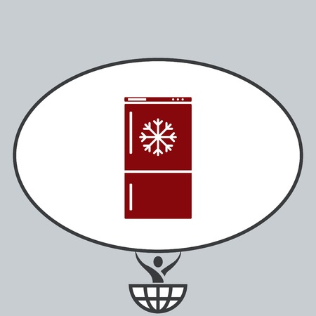 freeze: Home appliances icon. Refrigerator icon. Vector illustration. Kitchenware. Illustration