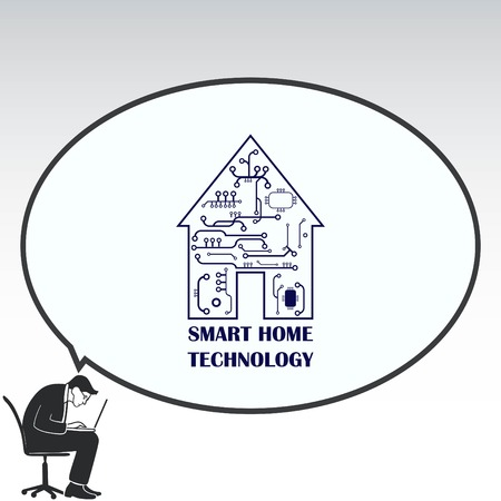 panels: Smart home in the cloud concept symbol vector illustration