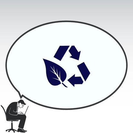 Prullenbak, prullenbak, vervuiling, recycling en ecopictogram gooien. Concept van ecologie probleem. Platte vectorillustratie. Vector Illustratie