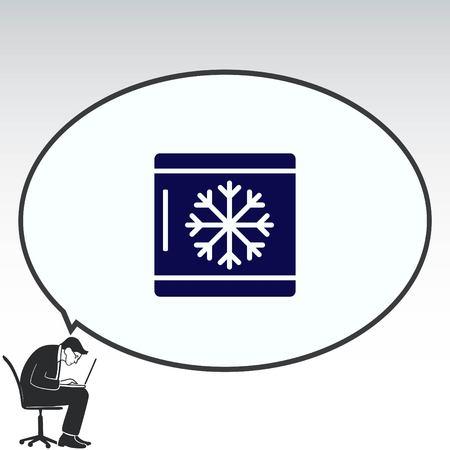 furniture: Home appliances icon. Refrigerator icon. Vector illustration. Kitchenware. Illustration