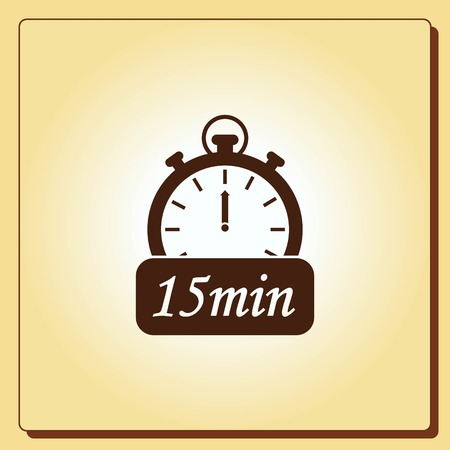 panels: Clock Icon, vector illustration