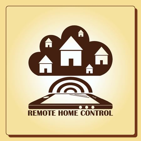 unlocking: Smart home in the cloud concept symbol vector illustration