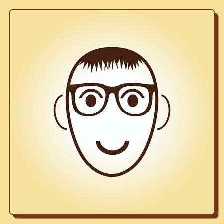 birthday party: Smiley icon. Flat Vector illustration