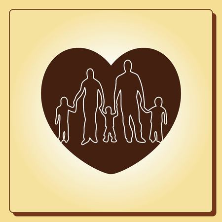 protect: Family icon, vector illustration. Flat design style Illustration