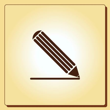 writer: Pencil icon, vector illustration Illustration