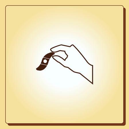 protect: Bandage plaster vector icon. Illustration