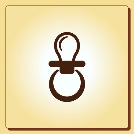 protect: Babys dummy sign icon. Child pacifier symbol, vector illustration. Flat design style