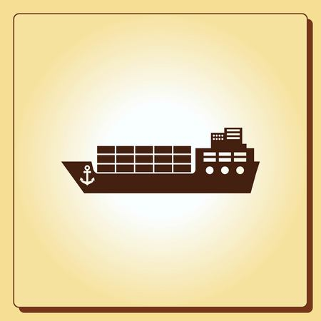 shipments: Ship icon, vector illustration. Flat design style.