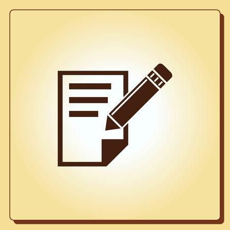 study: Notebook icon, vector illustration.