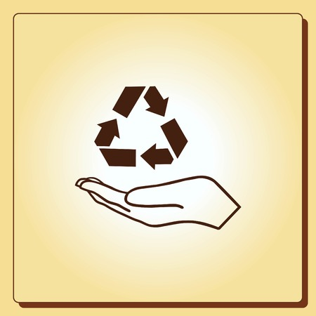 Throw away the trash icon, recycle icon Stock Vector - 80722212