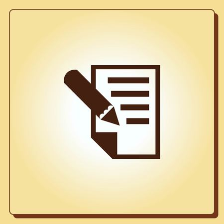 study: Pencil icon, vector illustration Illustration