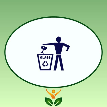 Throw away the trash icon, recycle icon Stock Vector - 80911775