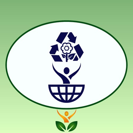 Throwing trash , recycle, pollution, recycling and eco icon. Concept of ecology problem. Flat Vector illustration. Stok Fotoğraf - 80998263