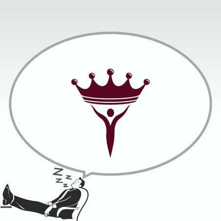 authority: Crown icon. Finance Icon, vector illustration. Flat design style. Illustration