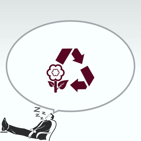pail: Throwing trash , recycle, pollution, recycling and eco icon. Concept of ecology problem. Flat Vector illustration. Illustration