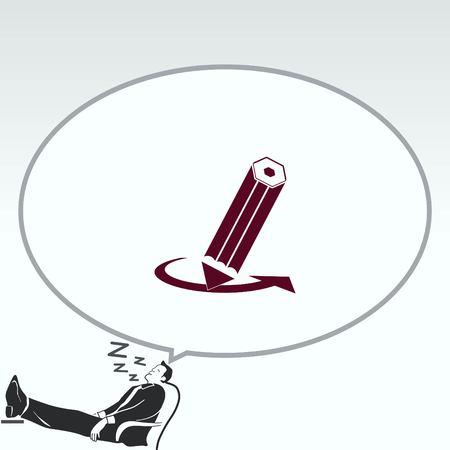 icono del lápiz, ilustración vectorial