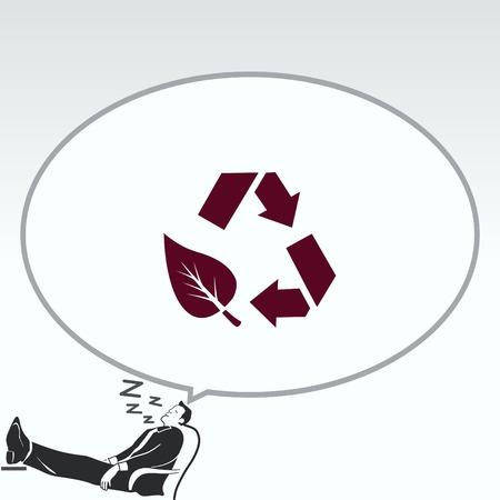 ゴミ、リサイクル、汚染、リサイクル、エコのアイコンを投げ。エコロジー問題の概念。フラットのベクター イラストです。  イラスト・ベクター素材