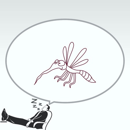biting: Mosquito icon. Leech icon. Wasp icon. Fly icon, vector illustration.