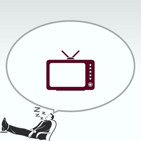 led display: Home appliances icon. TV icon. Vector illustration.