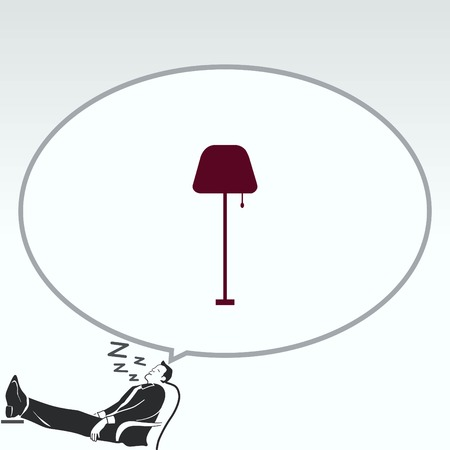 modern interior: Home appliances icon. Table lamp, floor lamp, chandelier icon. Vector illustration. Illustration