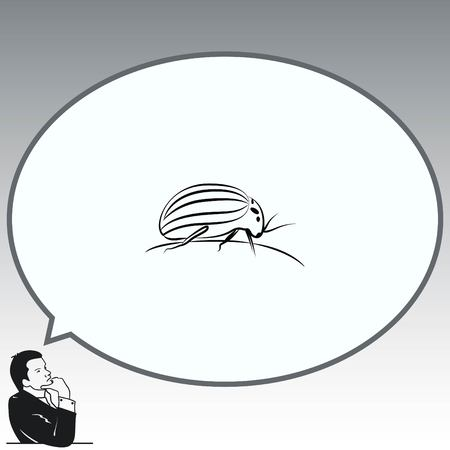 biting: Spider icon. Wasp icon. Fly icon, vector illustration. Illustration
