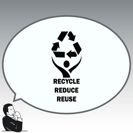 Throwing trash , recycle, pollution, recycling and eco icon. Concept of ecology problem. Flat Vector illustration. Stok Fotoğraf - 81073198