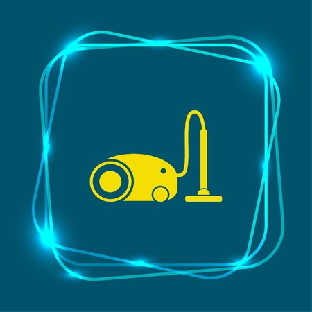 Home interior design , Vacuums icon, living room, vector illustration. Flat design style.