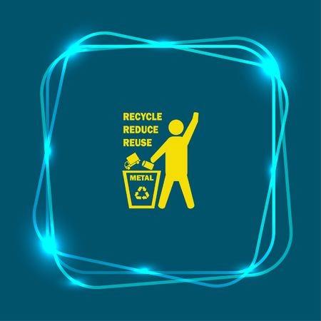 Throw away the trash icon, recycle icon Stok Fotoğraf - 81087011