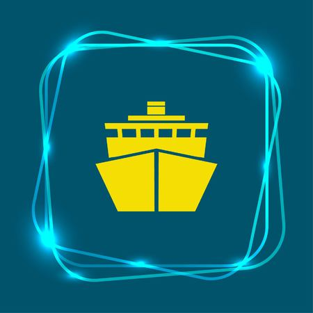 Ship icon, vector illustration. Flat design style.