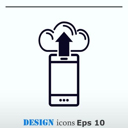 handset: The handset phone icon, vector illustration.