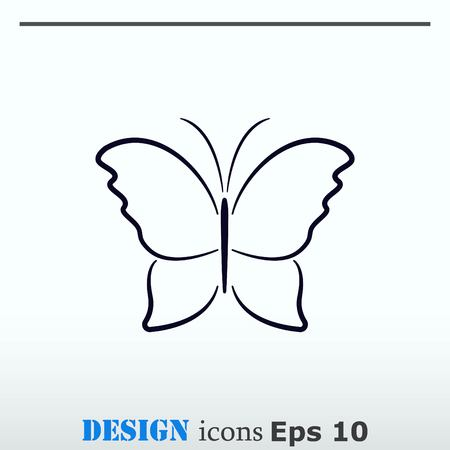 butterfly background: Butterfly icon, vector illustration. Illustration