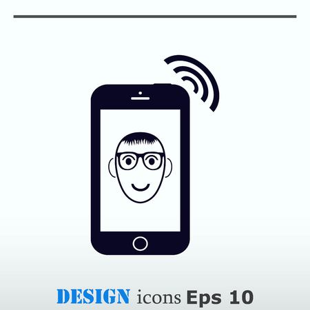 handset: The handset, phone icon illustration.