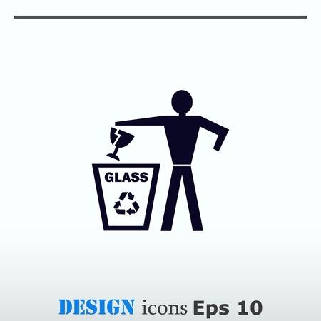 Throw away the trash icon, recycle icon Stok Fotoğraf - 81741226