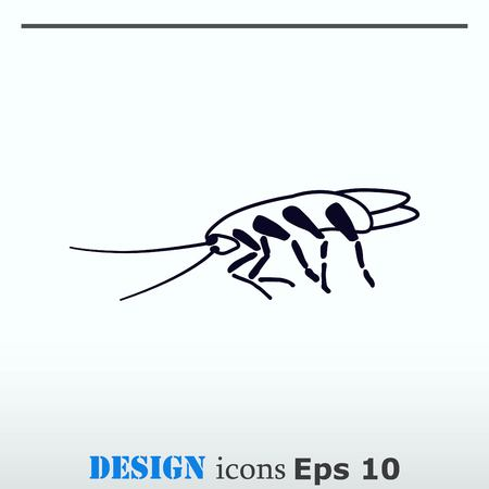 Cockroach icon, pest icon, vector illustration. Ilustrace