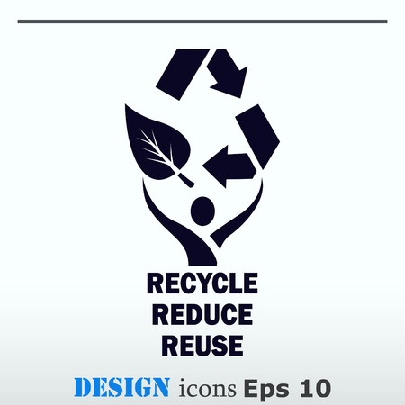 Throwing trash , recycle, pollution, recycling and eco icon. Concept of ecology problem. Flat Vector illustration. Illustration