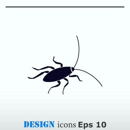 repellent: Cockroach icon, pest icon, vector illustration. Illustration